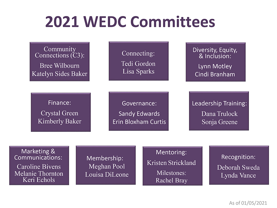 2021 WEDC Committee Chairs